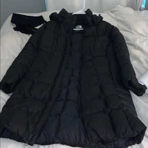 long north face coat size small